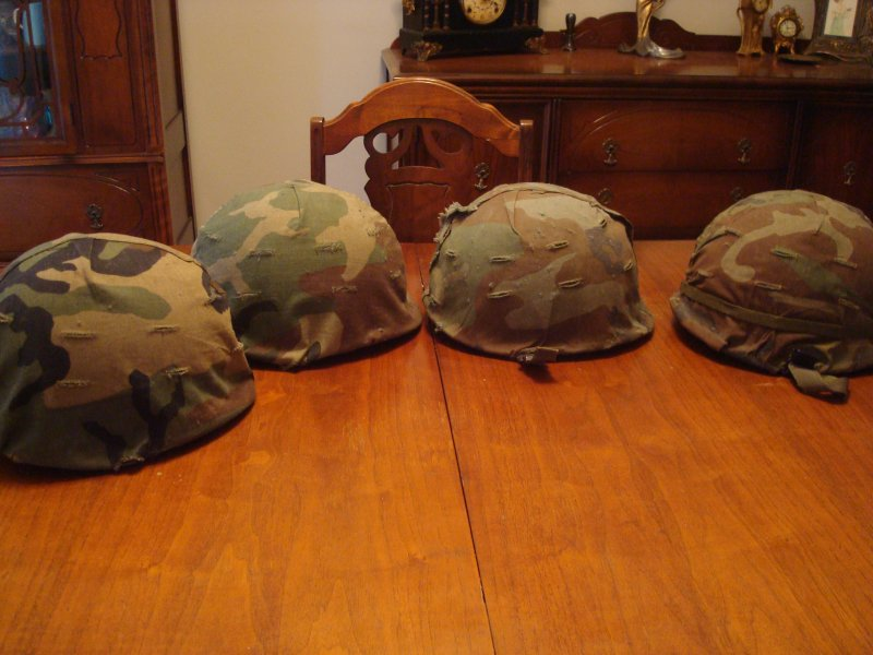 CF Used M1 Helmet With ERDL Cover 110