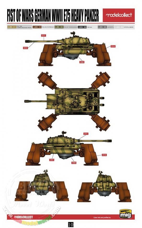 E75 Heavy Panzer  1/72 Modelcollect 2ee87210