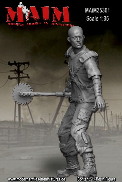 Post apocalyptic warrior - figurine Maim 1/35 (FINI) Maim3515