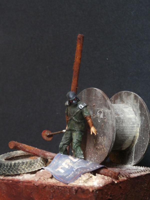 Post apocalyptic warrior - figurine Maim 1/35 (FINI) P1290012