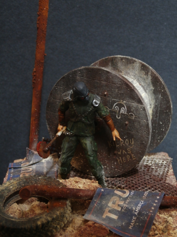 Post apocalyptic warrior - figurine Maim 1/35 (FINI) P1290013