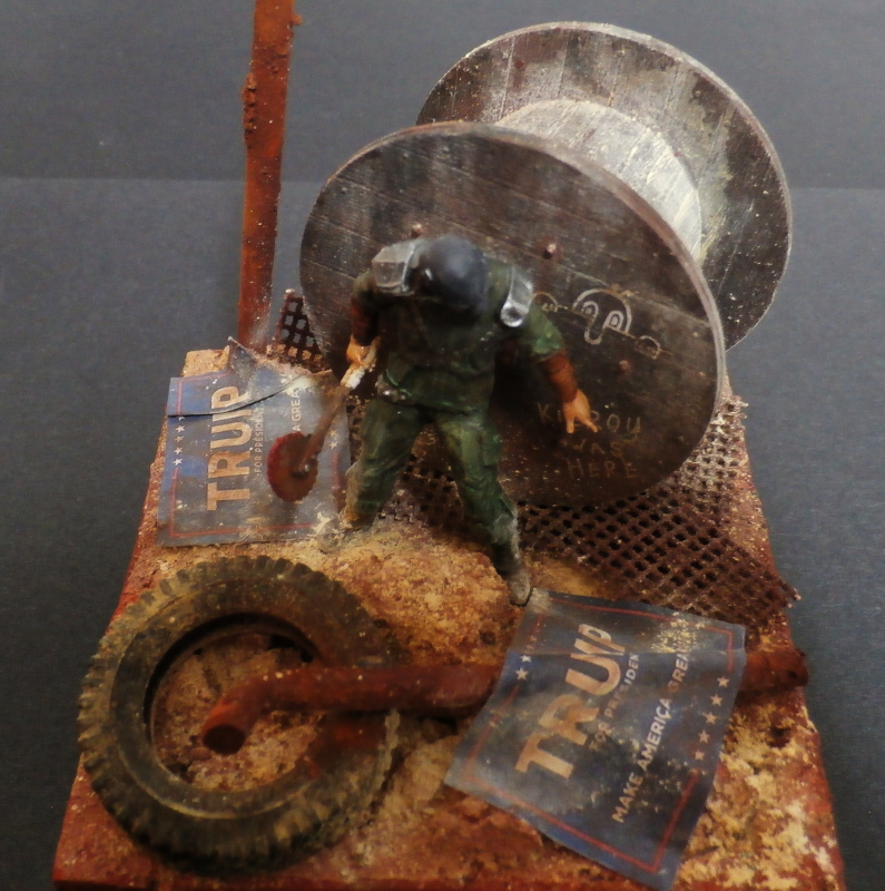 Post apocalyptic warrior - figurine Maim 1/35 (FINI) P1290014