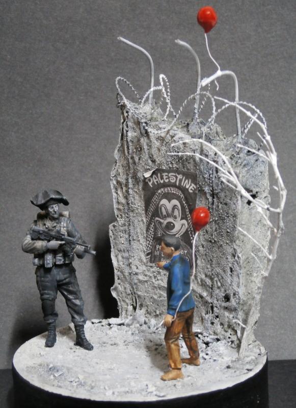Défi noir & blanc : Palestine - figurine Meng + figurine MB 1/35 *** Terminé en pg 1 P3010011