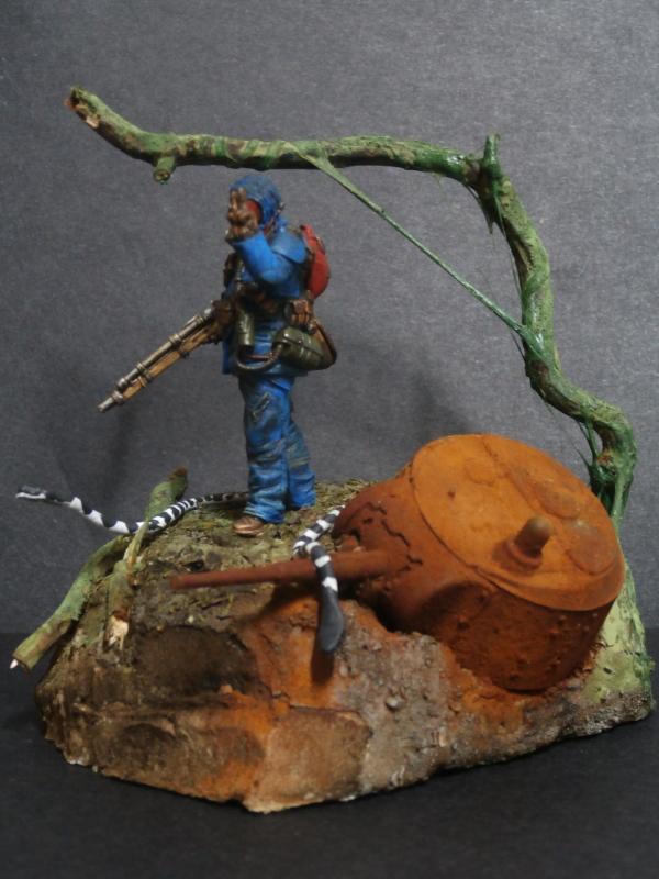 """""""Sniper"""" Figurine Kellerkind Miniaturen 1/35 (FINI) P3110017"""