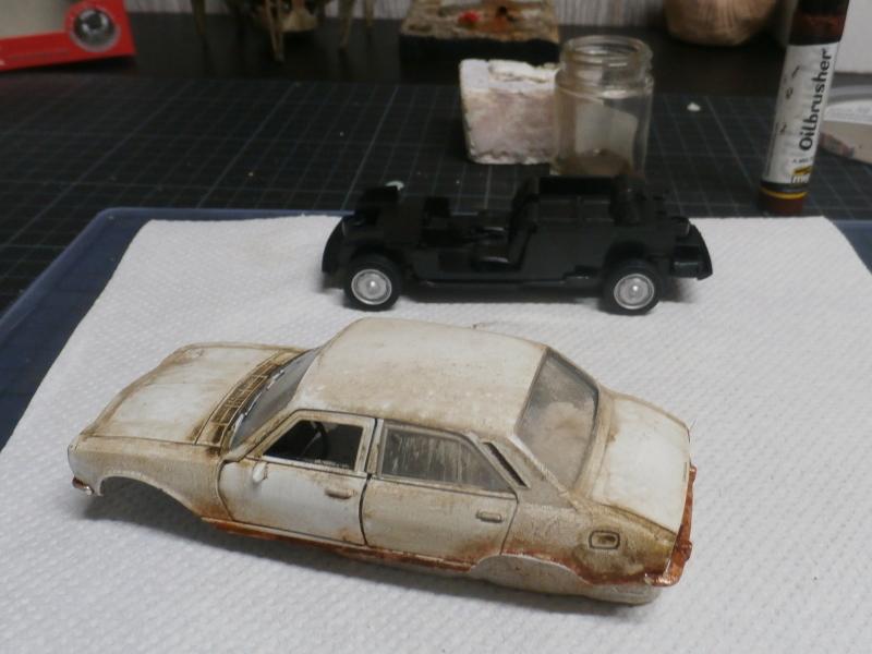 Peugeot 504 abandonnée - diecast Welly (FINI) P3170012