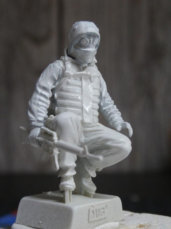 """""""Le guetteur"""" figurine Mig modifiée 1/35 (FINI) P3240010"""