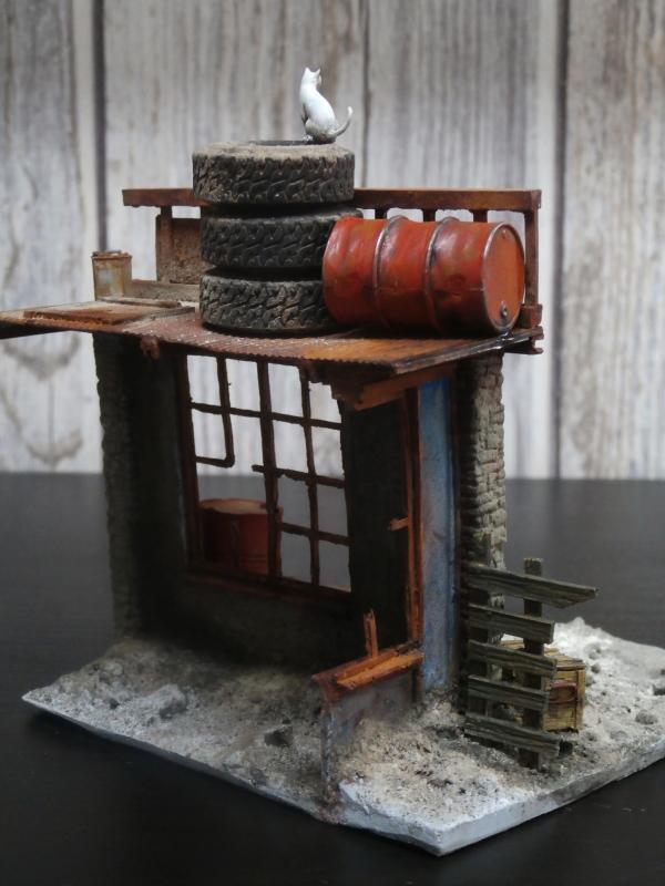 """House ruin"" Black Dog 1/35 (FINI) P5030014"