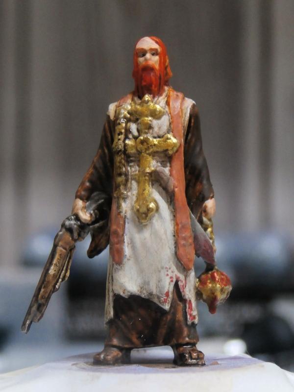 """Padre Johnson"" Scène 1 - Figurine Zombicide 35mm (FINI) P5170012"