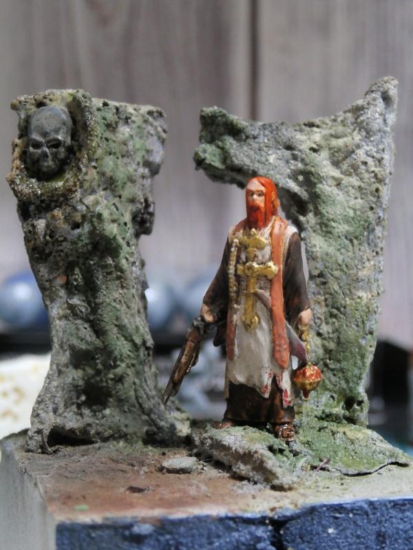 """Padre Johnson"" Scène 1 - Figurine Zombicide 35mm (FINI) P5170013"
