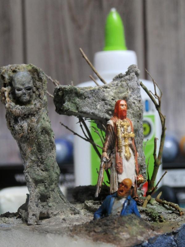 """Padre Johnson"" Scène 1 - Figurine Zombicide 35mm (FINI) P5170014"