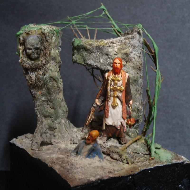 """Padre Johnson"" Scène 1 - Figurine Zombicide 35mm (FINI) P5180010"