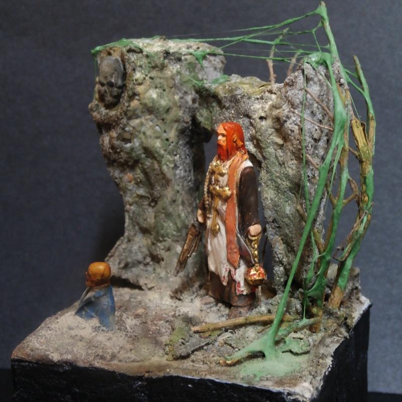 """Padre Johnson"" Scène 1 - Figurine Zombicide 35mm (FINI) P5180012"
