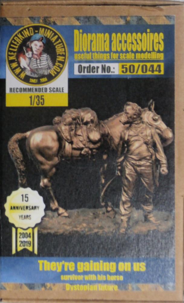 Survivant avec son cheval - figurine Kellerkind Miniaturen - 1/35 (FINI) P7090010