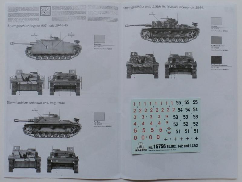 Ouvre boite Sturmgeschütz III/Sturmhaubitze 105 Italeri 1/56 P7100018