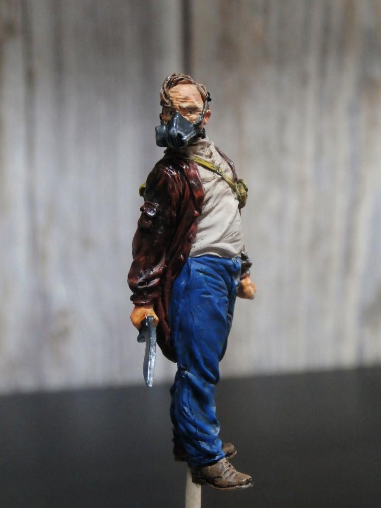 Survivant avec son cheval - figurine Kellerkind Miniaturen - 1/35 (FINI) P7140012