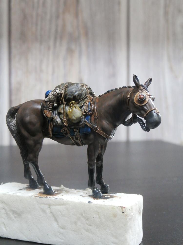 Survivant avec son cheval - figurine Kellerkind Miniaturen - 1/35 (FINI) P7140018
