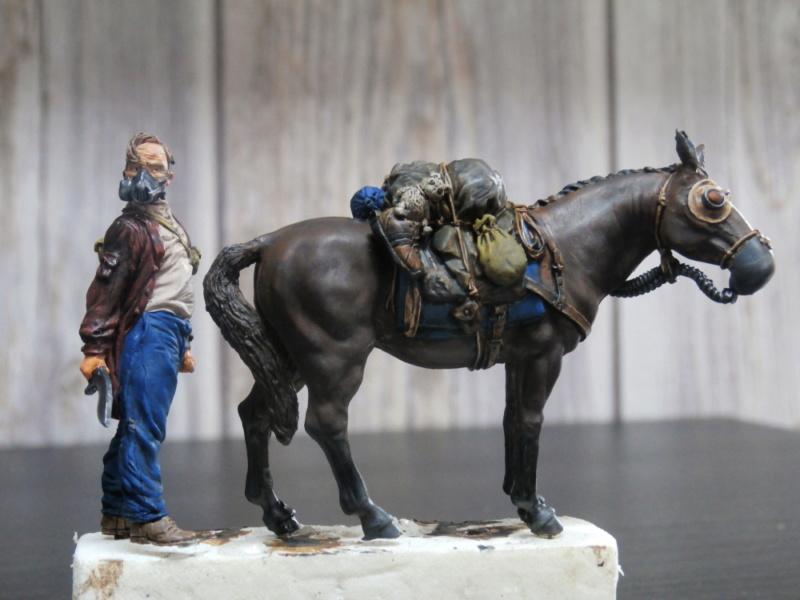 Survivant avec son cheval - figurine Kellerkind Miniaturen - 1/35 (FINI) P7150012