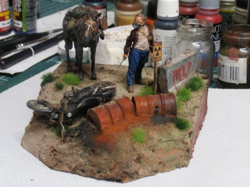 Survivant avec son cheval - figurine Kellerkind Miniaturen - 1/35 (FINI) P7160016