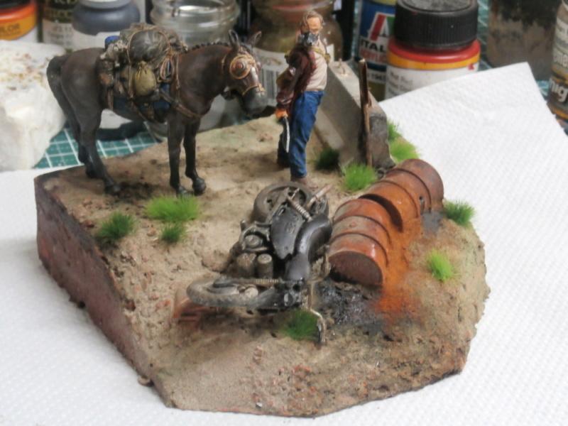 Survivant avec son cheval - figurine Kellerkind Miniaturen - 1/35 (FINI) P7160017
