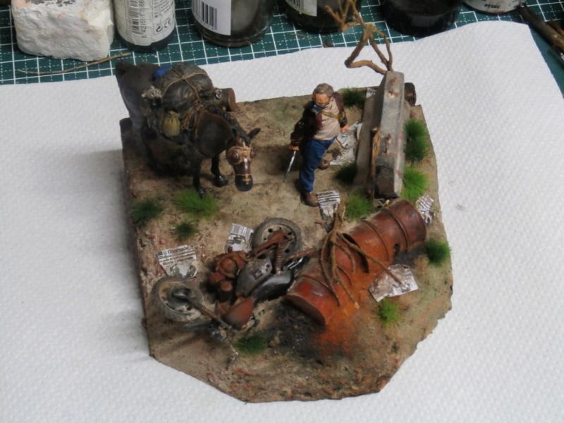 Survivant avec son cheval - figurine Kellerkind Miniaturen - 1/35 (FINI) P7160019