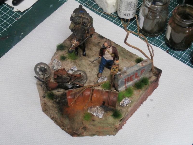 Survivant avec son cheval - figurine Kellerkind Miniaturen - 1/35 (FINI) P7160020