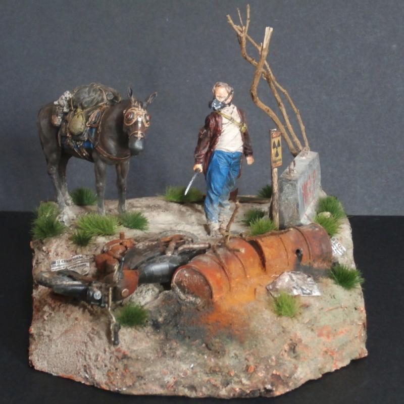 Survivant avec son cheval - figurine Kellerkind Miniaturen - 1/35 (FINI) - Page 2 P7170015