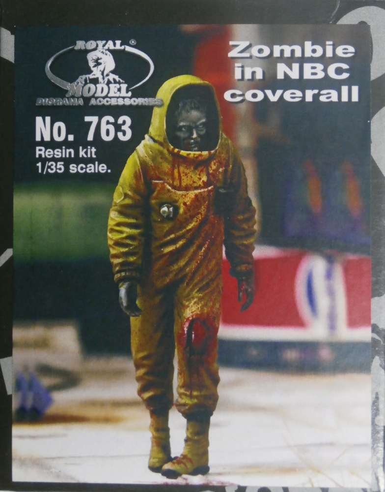 Zombie in NBC coverall - figurine Royal Model 1/35 (FINI) P8050010