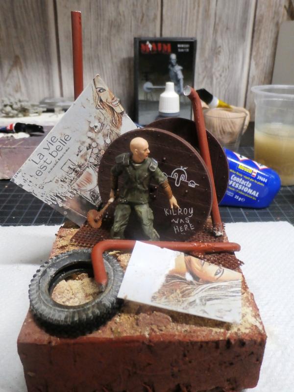 Post apocalyptic warrior - figurine Maim 1/35 (FINI) Pc310013