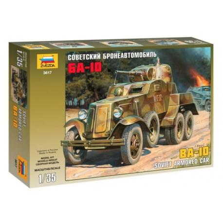 BA-10 Soviet armored car Zwezda 1/35 Zvezda15