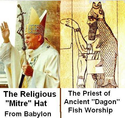 Papst u. Co = Gott Dagon (Fischgott) Pabst_10