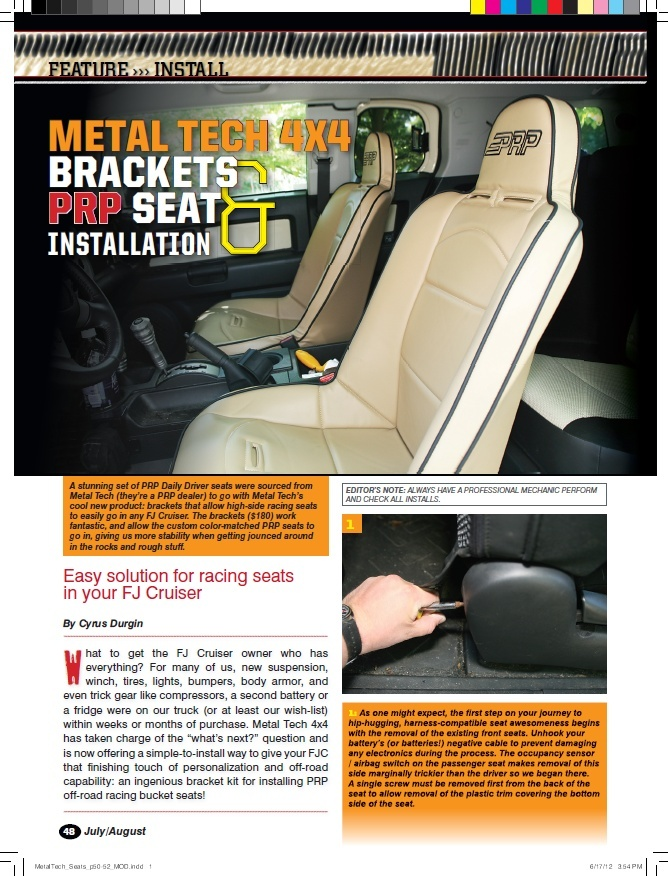 PRP Seats and Metal Tech 4x4 Creating comfort for your FJ 110