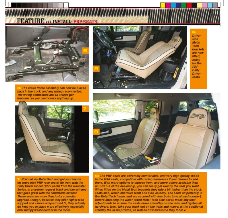 PRP Seats and Metal Tech 4x4 Creating comfort for your FJ 410