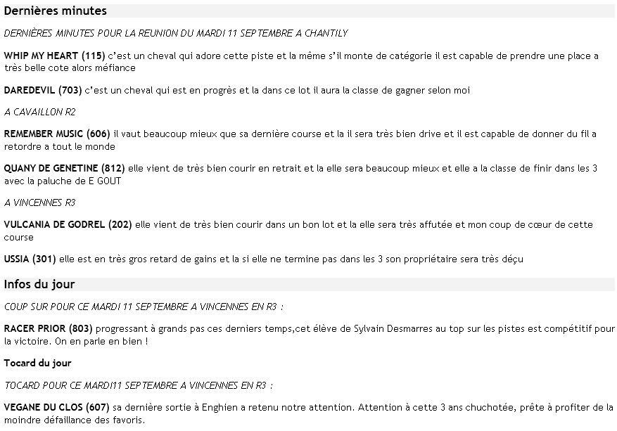 ICI ...Pas de TUYAUX Mais DES INFOS ENTRAINEMENTS ET PRONOS JOURNAUX - Page 14 Dm11se10