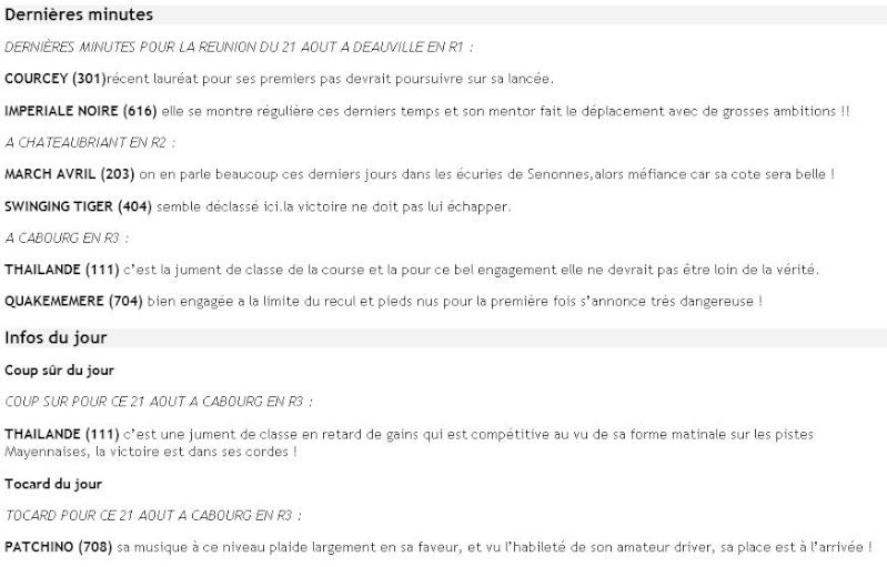 ICI ...Pas de TUYAUX Mais DES INFOS ENTRAINEMENTS ET PRONOS JOURNAUX - Page 13 Dm21ao10