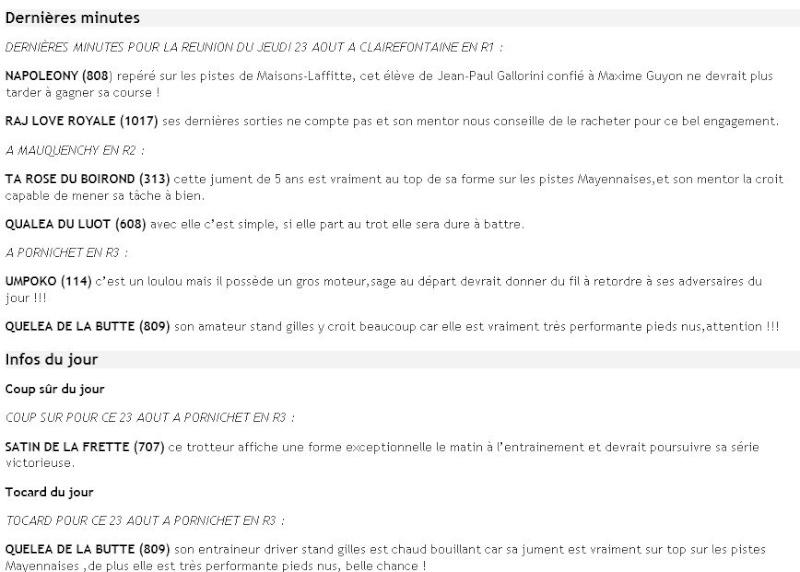 ICI ...Pas de TUYAUX Mais DES INFOS ENTRAINEMENTS ET PRONOS JOURNAUX - Page 13 Dm23ao10