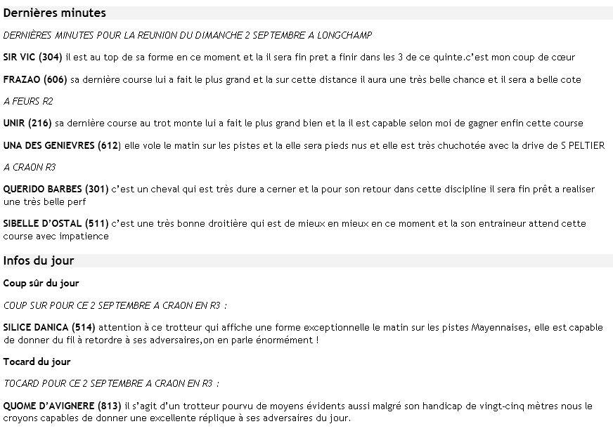 ICI ...Pas de TUYAUX Mais DES INFOS ENTRAINEMENTS ET PRONOS JOURNAUX - Page 13 Dm2sep10
