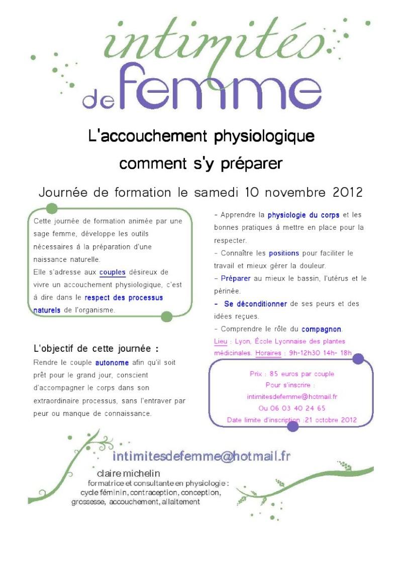 Journée préparer son accouchement physiologique le 10/11/12 à Lyon Affich10