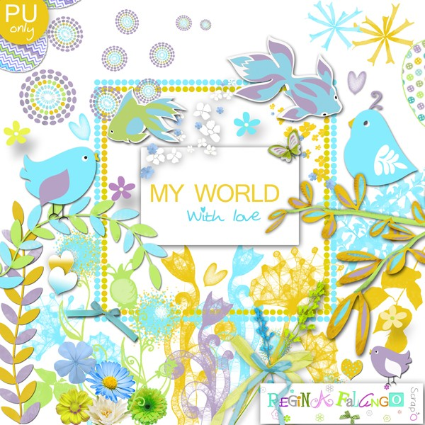 kit MY WORLD with love Pvmywo12