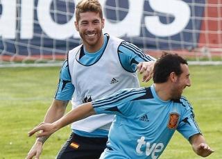 راموس أنضم لتدريبات اللاروخا في ملعب الكالديرون  20121013