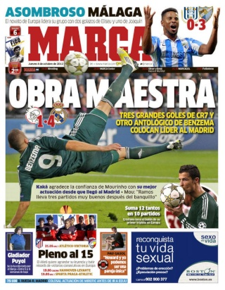 غلاف صحيفة الماركا 4 - 10 - 2012  A4uaes11