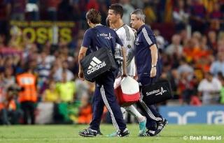 خبر عاجل :اصابة رونالدو ليست خطيرة و هو بحالة جيدة  Barcel13