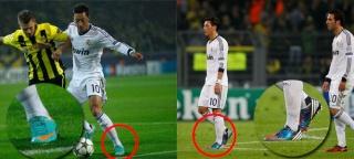 مسعود أوزيل يلعب بحذائين مختلفين فى المباراة  Botas-10