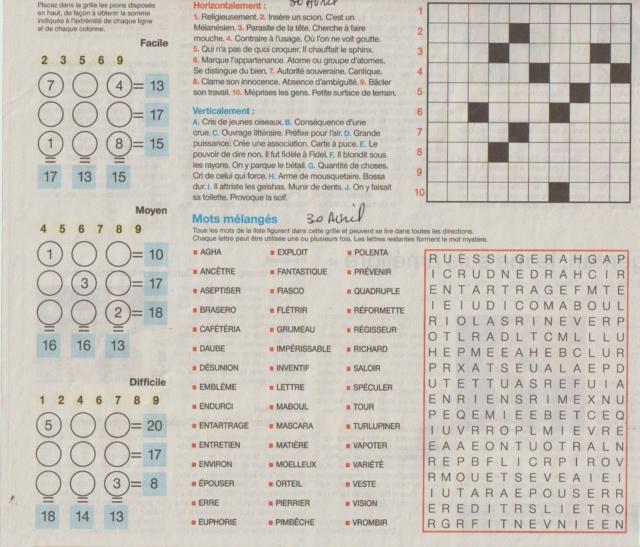 [Jeux] JEUX OUEST FRANCE du 2 Avril 2020 pour passer le temps - Page 3 Mots_f34