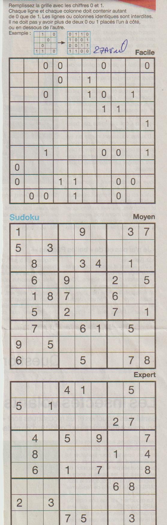 [Jeux] JEUX OUEST FRANCE du 2 Avril 2020 pour passer le temps - Page 3 Sudoku29