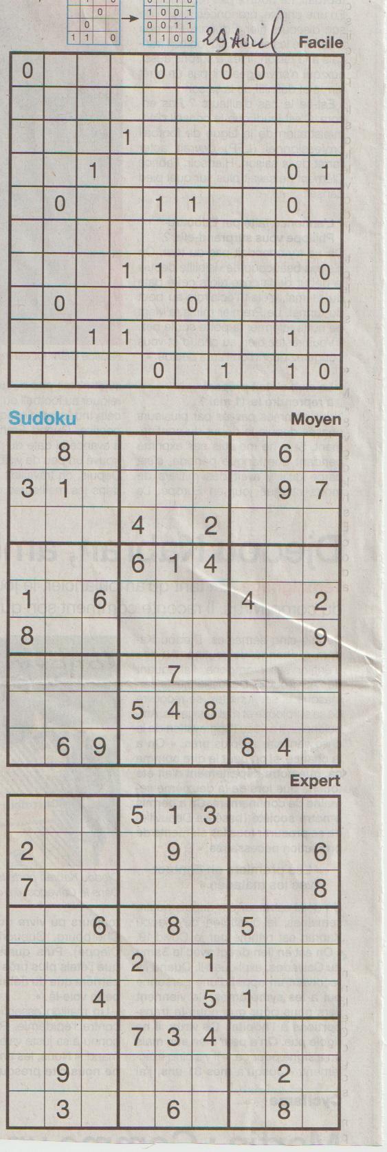 [Jeux] JEUX OUEST FRANCE du 2 Avril 2020 pour passer le temps - Page 3 Sudoku30