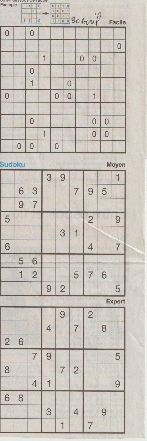 [Jeux] JEUX OUEST FRANCE du 2 Avril 2020 pour passer le temps - Page 3 Sudoku31
