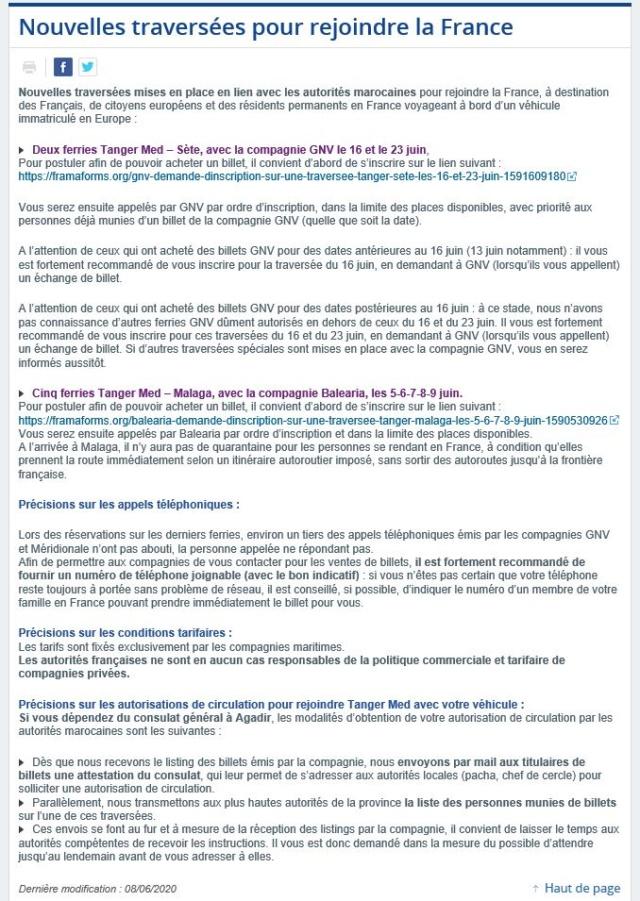 [Maroc/Le Bateau] NOUVELLES TRAVERSEES Pour les 16 et 23 juin 2020 Traver10