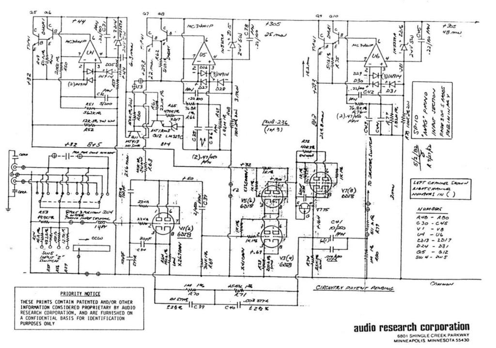 Pré-ampli Audio research SP10 MKII_Circuit de muting  Scheam10