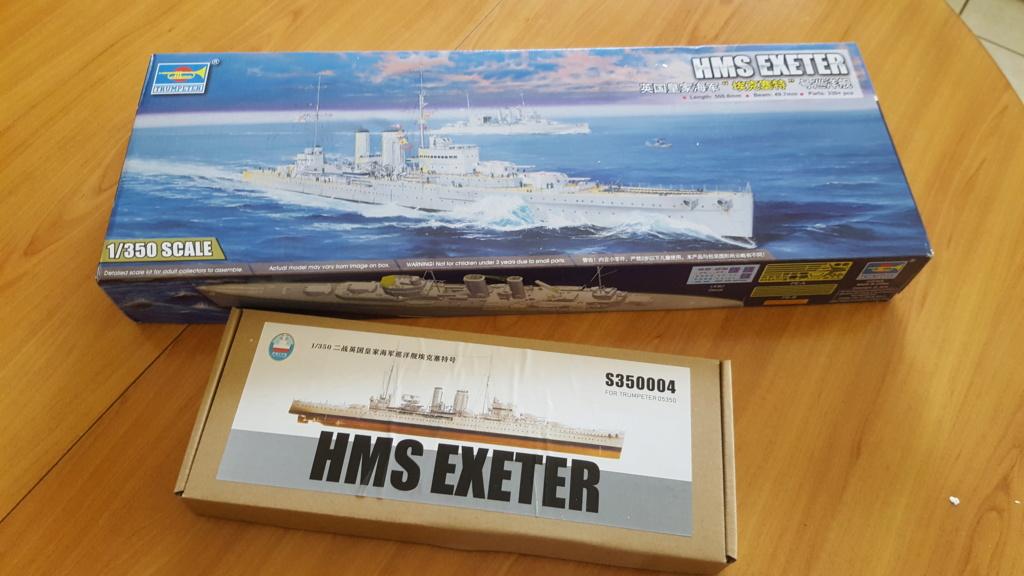HMS Exeter 1939 + Set PE ShipYard au 1/350 20191111