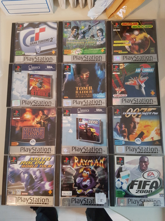 Objectif Fullset PS1 PAL Platinum = 76/152 jeux 20200916